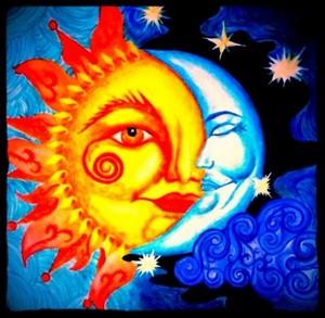 sun and moon