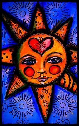 sun with hart-, hart