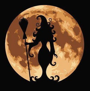witch and moon