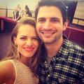 Bethany Joy Lenz and James Lafferty in Paris.