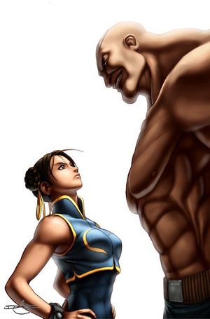 Chun-li and Sagat