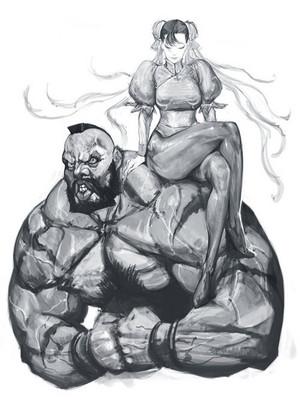 Chun-li and Zangief