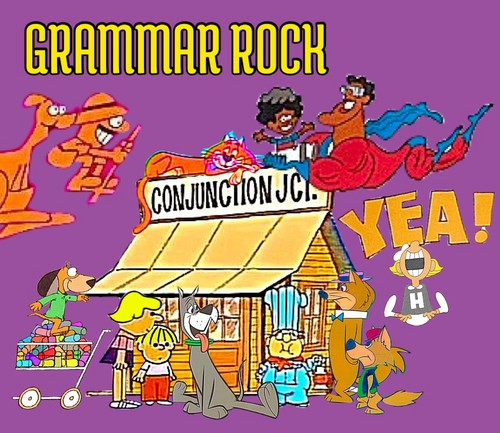School House Rock wallpaper with anime called 'Grammar Rock' Parody