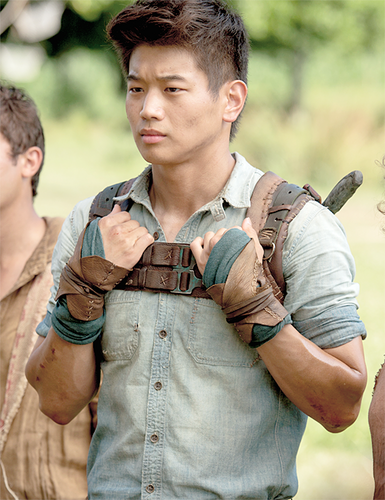 The Maze Runner wolpeyper with a green beret, a rifleman, and panlabang uniporme entitled Minho