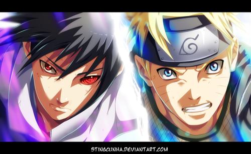 naruto shippuden wallpaper titled *Sasuke v/s naruto : The Final Battle*