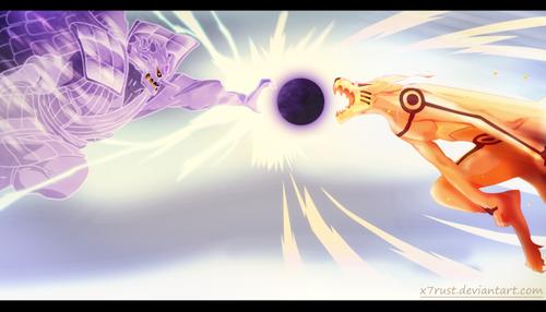 Naruto Shippuuden wallpaper titled *Sasuke v/s Naruto : The Final Battle*