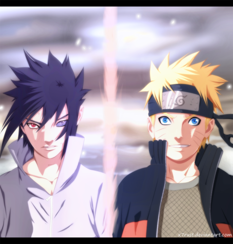 uzumaki naruto (shippuuden) wallpaper probably with animê entitled *Sasuke v/s naruto : The Final Battle*