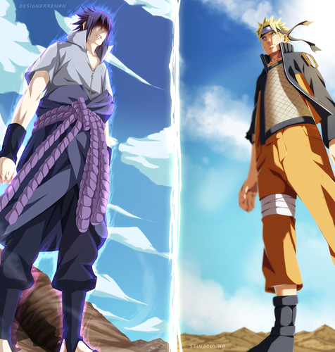 Naruto Uzumaki (shippuuden) fond d'écran with a hip boot titled *Sasuke v/s Naruto : The Final Battle*