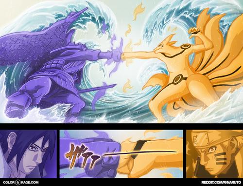 Uzumaki Naruto (Shippuuden) Hintergrund probably with Anime entitled *Sasuke v/s Naruto : The Final Battle*