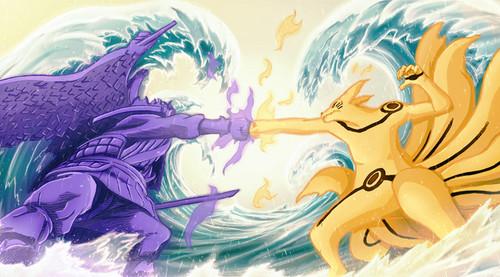 uzumaki naruto (shippuuden) wallpaper entitled *Sasuke v/s naruto : The Final Battle*