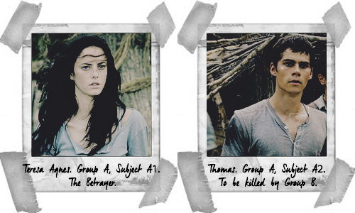 The Maze Runner Hintergrund possibly with a portrait entitled Subject A1 and A2