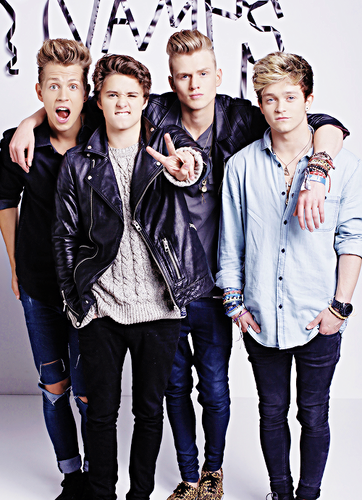 The Vamps wolpeyper with long trousers entitled The Vamps