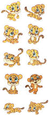 A Bunch Of Anime Cheetah Cubs