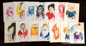Adventure Time Characters Water Color