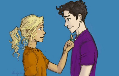 The Heroes of Olympus achtergrond with anime titled Ahhh Percabeth...
