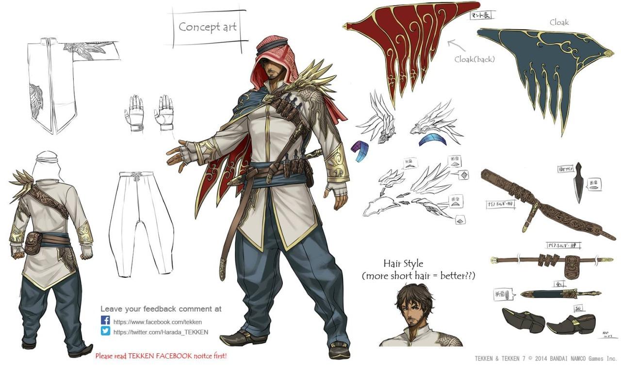 Arab character concept art.