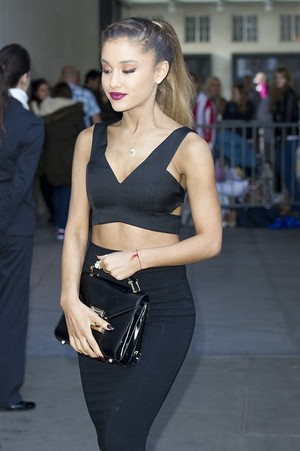 "Ariana Grande leaves the ITV studios after ""Loose Women"""