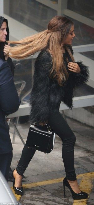 Ariana Grande outside the London Studios