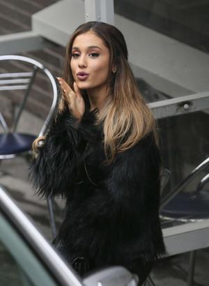Ariana Grande outside the london Studios