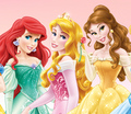 Walt 迪士尼 图片 - Princess Ariel, Aurora & Belle