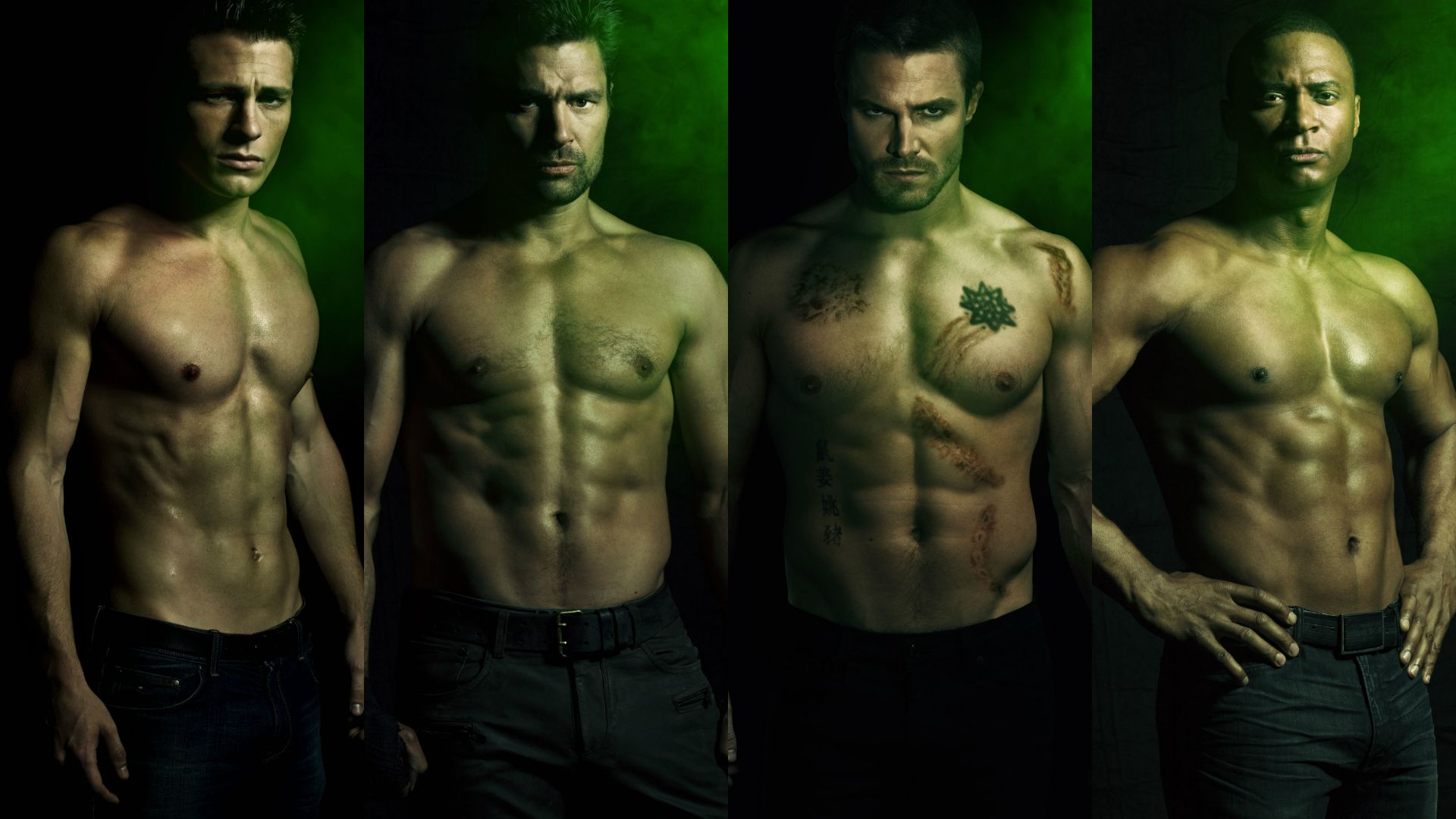 Arrow Wallpaper Possibly With A Six Pack And Pezzo Hunk Entitled Cast