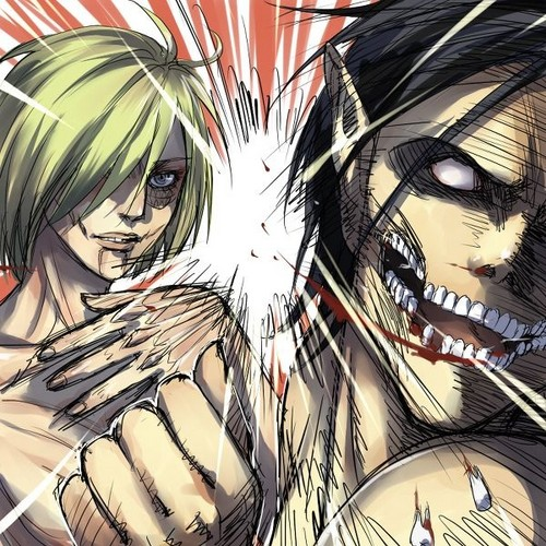 Shingeki no Kyojin (Attack on Titan) Hintergrund with Anime titled B**** Slap