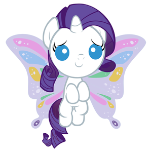 Baby Rarity with Butterly Wings