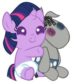 Baby Twilight Sparkle and Mister Smarty Pants