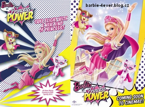 Barbie Movies wallpaper with anime entitled Barbie in Princess Power DVD Covers