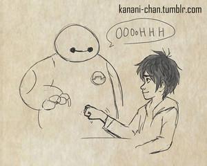 Baymax and Hiro