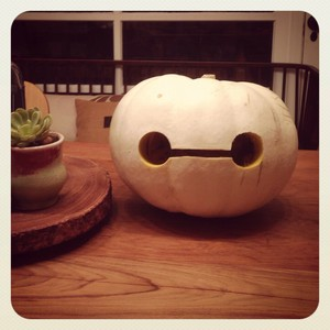 Baymax pumpkin