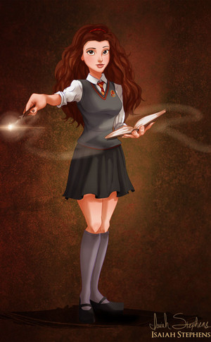 Belle dress Up for Halloween as Hermione