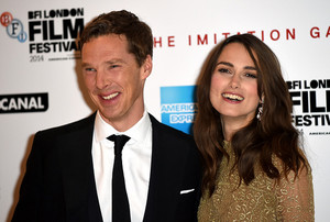 Ben and Keira at The Imitation Game Opening Night Gala