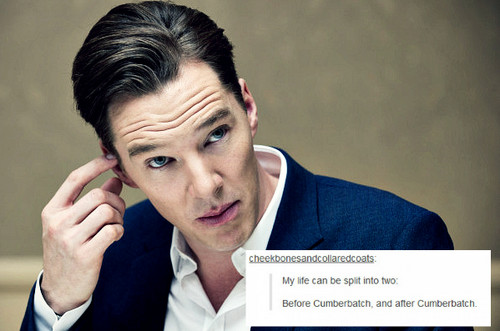 Benedict Cumberbatch wallpaper probably containing a business suit and a portrait titled Benedict - Tumblr Text Posts