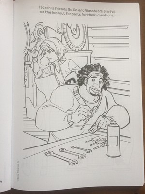 Big Hero 6 Coloring Book Pages