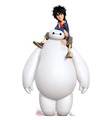 Big Hero 6 Hiro and Baymax giant cutout
