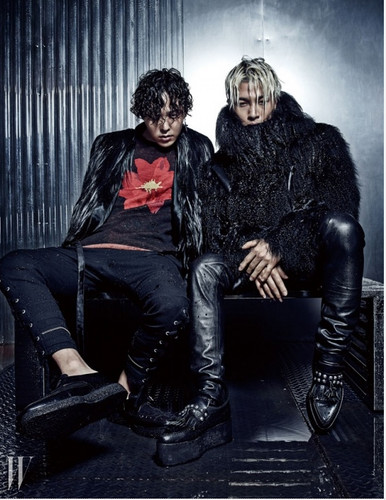 malaking putok wolpeyper with a hip boot entitled Bigbang GD and Taeyang for W Korea Magazine~Wild things❤ ❥