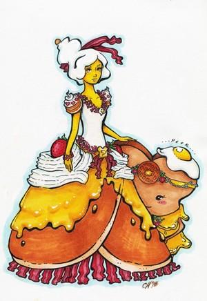 Breakfast Queen and princess