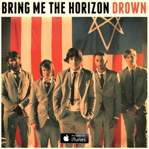 "Bring Me The Horizon karatasi la kupamba ukuta with a business suit and a well dressed person titled Bring Me The Horizon - ""Drown"" new single picture"