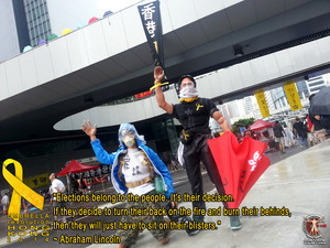 Calvin's Custom: Umbrella Man @ Occupy Central