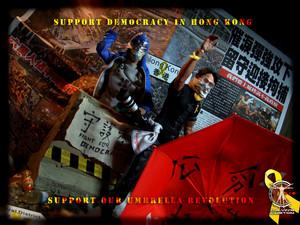 Calvin's Custom one sixth scale occupy central occupy hong kong umbrella revolution figures