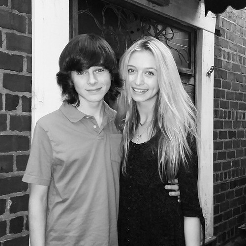 Chandler Riggs Hintergrund probably with a portrait titled Chandler and Hana ♥