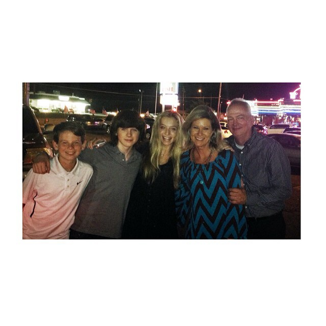 Chandler with Hana and his family ♥