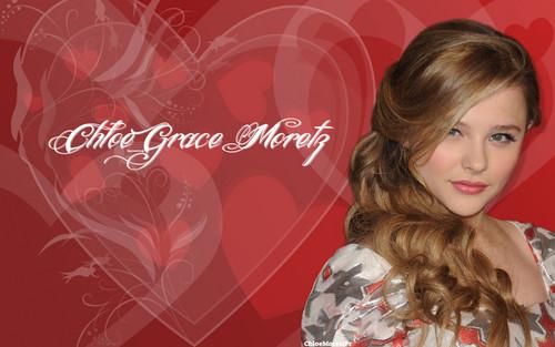 클로이 모레츠 바탕화면 containing a portrait titled Chloe Moretz 바탕화면