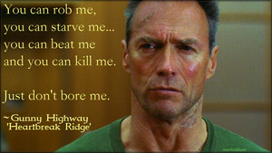Clint Eastwood in Heartbreak Ridge