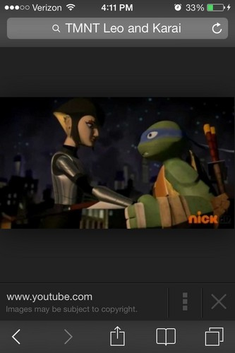 2012 Teenage Mutant Ninja Turtles wallpaper entitled Cutestcouple ever;Wish they went lebih into detail