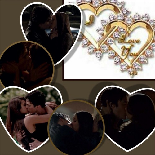The Vampire Diaries Couples wallpaper titled Damon and Elena