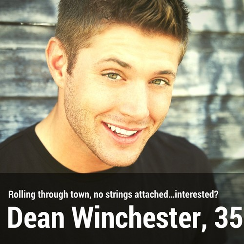 Supernatural kertas dinding with a portrait titled Dean Winchester | Dating profil