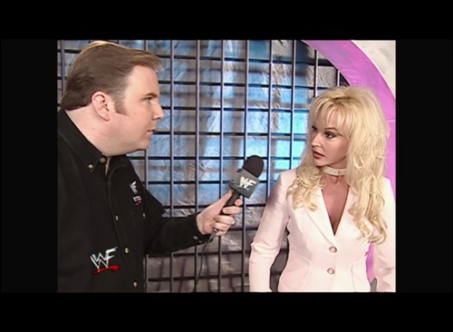 Former WWE Diva... Debra پیپر وال containing a business suit entitled Debra - Smackdown! - 04.05.01