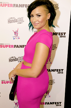 Demi Lovato attends VEVO's first annual VEVO Certified SuperFanFest at The Barker Hangar in Santa